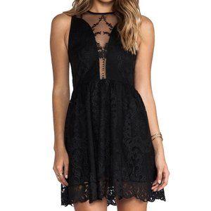 For Love and Lemons Black Lace Lulu Dress